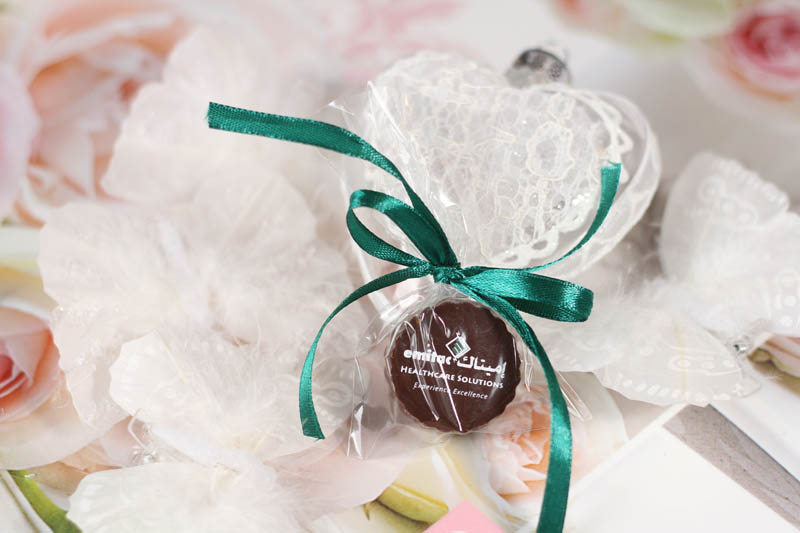 Creamy - Praline with Hazel Nut Cream Filling in a polybag with Ribbon, 13g